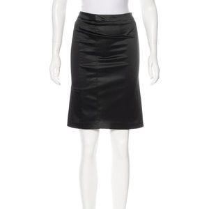 Dolce & Gabbana Knee Length Satin Pencil Skirt